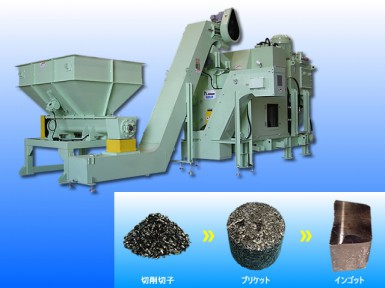 Chip compacting machine【MKS-300】