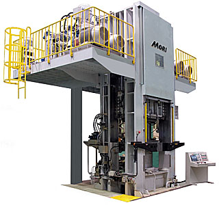MMF-1000 ton press for a trial of our factory.