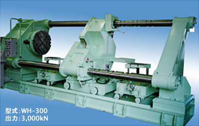 Wheel and axle desorption, horizontal type press【WH】