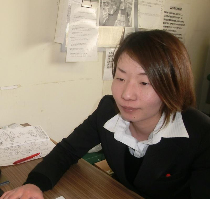 入社1年目資材課 中山 美香さん
